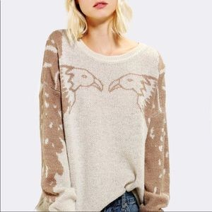 Coincidence & chance eagle wool sweater